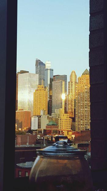 NYC Skyline NYC LIFE ♥ Sunsets Ecosystem  Orange