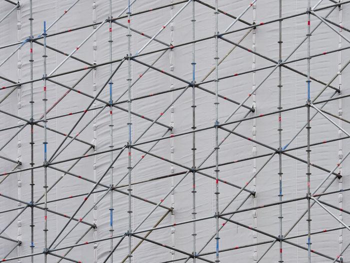 Full frame shot of scaffolding