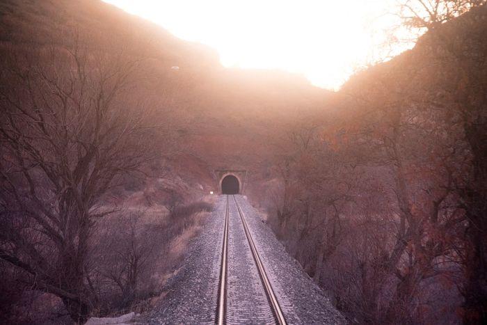 Doğu Ekspresi Railway Railroad Track The Way Forward Transportation Rail Transportation No People Nature Day Sunlight Tree Mountain Beauty In Nature Landscape Outdoors