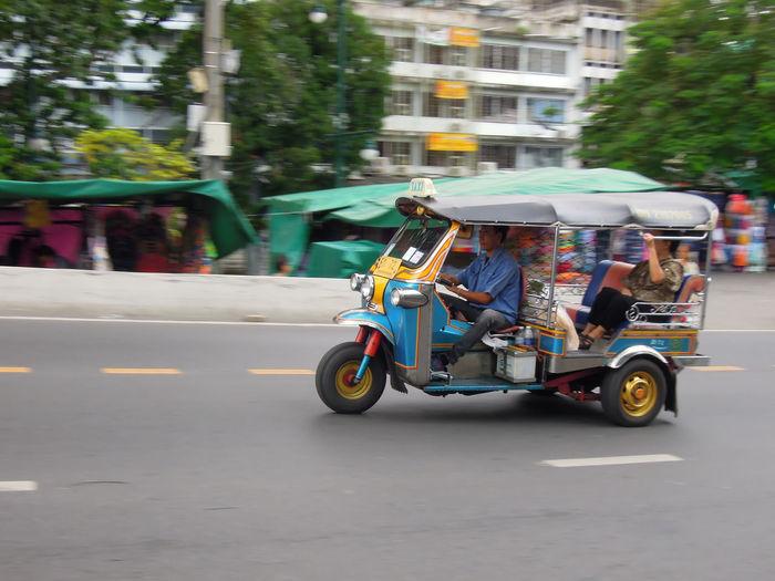 Cars on roadside