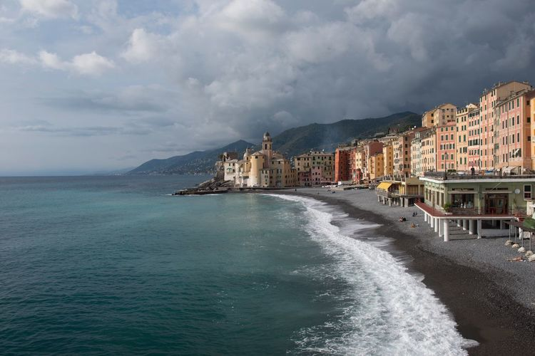 Nikon D800 Architecture Building Exterior Mountain Sea Sky Built Structure Water Cloud - Sky Outdoors No People Day Waterfront Nature Scenics City Beauty In Nature Cityscape Maritime Italian Countries Camogli Italia Liguria, Italy I Love Clouds Clouds And Sun