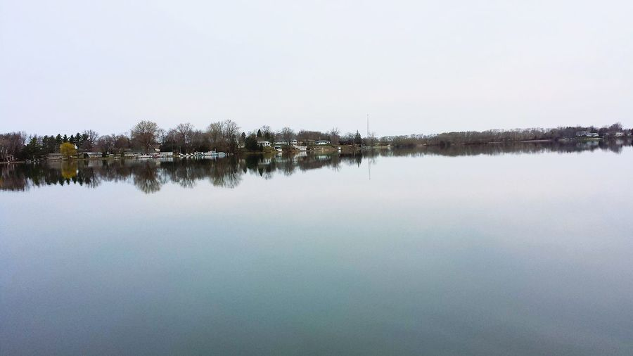 Little Green Lake Outdoor Dusk Wisconsin Lake Reflection Symmetry Mirror Landscape Water Calm Smooth As Glass