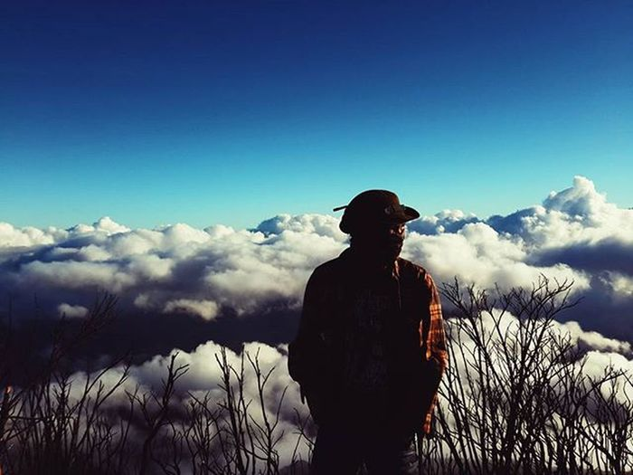 The best view comes after the hardest climb Klabat Klabatgreenranger Puncak3 Pendakibaper Bluesky Cloudocean