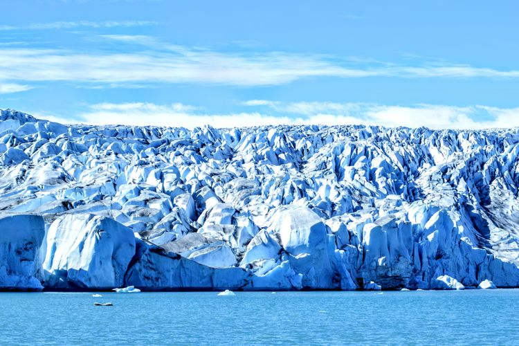 Icecap in Greenland Beauty In Nature Blue Cold Temperature Frozen Glacial Glacier Global Warming Ice Iceberg Icecap Landscape Melting Nature No People Outdoors Scenics Sea