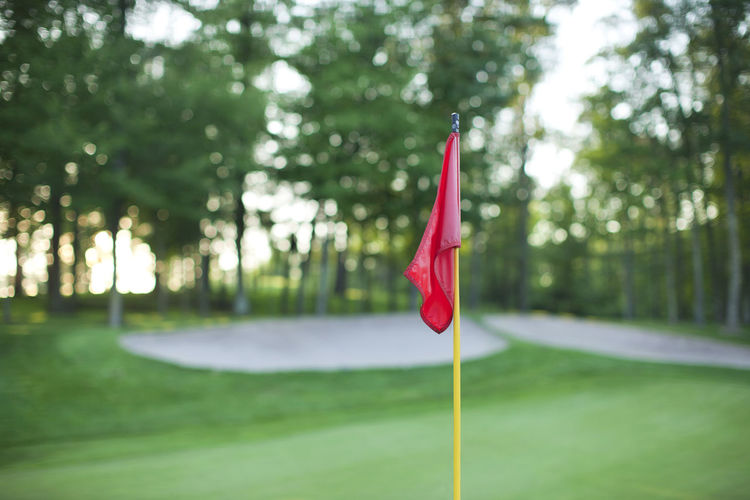 Red flag at golf course