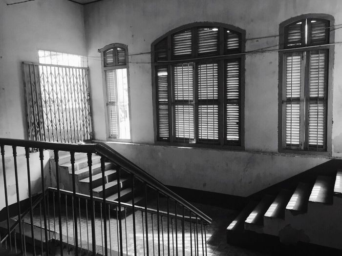 Stairways Old High School Vietnam Silent Moment Interior Design Indochine French Design