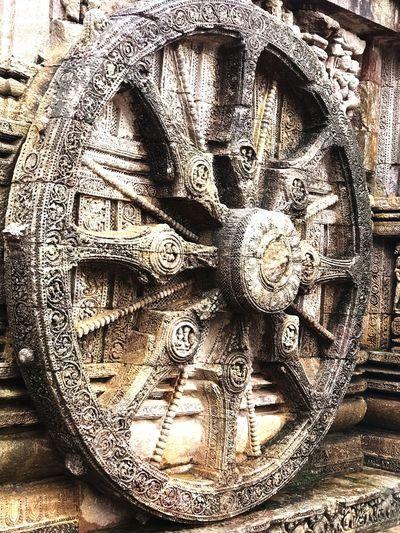 Konark Sun Temple, Odisha, INDIA Full Frame No People Pattern Close-up Backgrounds Day Design