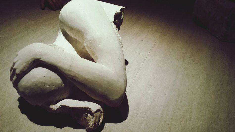 Broken Sculpture Art Clay