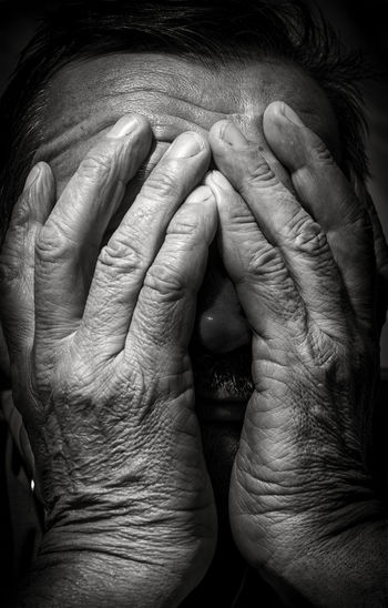 Adult Adults Only Bonding Close-up Day Human Body Part Human Finger Human Hand Indoors  Men People Real People Senior Adult Togetherness Two People Wrinkled