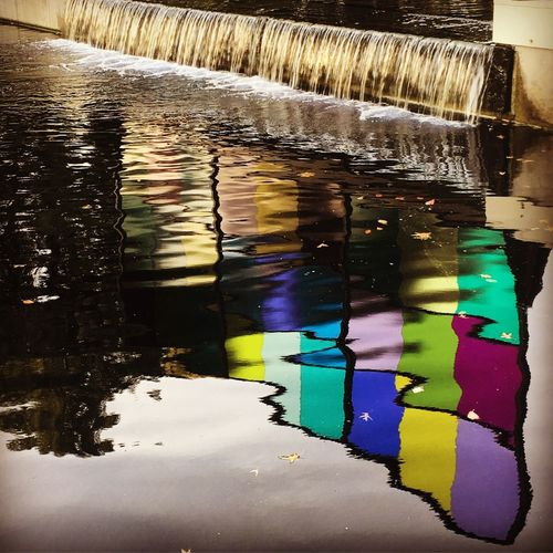 Liquid Architecture Glass Reflections Water Reflection Multi Colored No People Transparent Day Nature Wet Pattern Glass - Material Outdoors