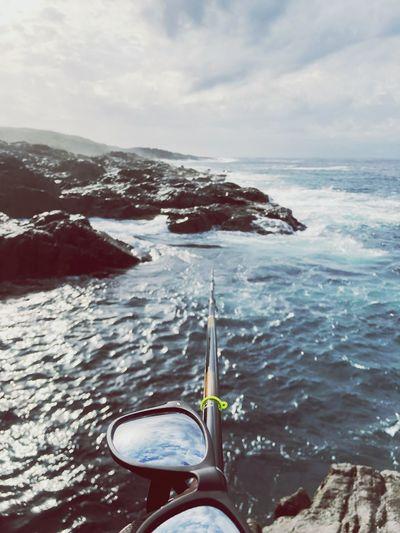 ISO Fishing Iphonexphotography Isofishing Rockfishing Sea Sky Nature Scenics - Nature Horizon Isofishing Rockfishing Sea Sky Nature Scenics - Nature Horizon