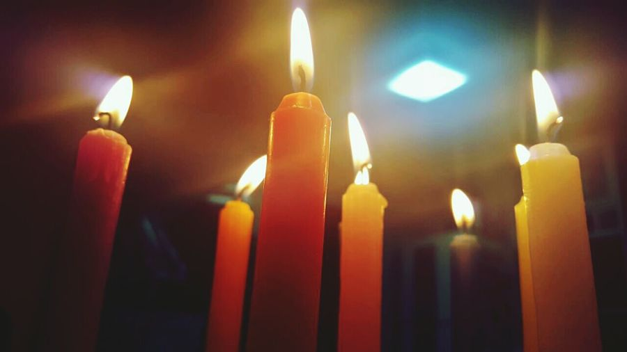 Flame Candle Burning Heat - Temperature Spirituality Religion Yellow Illuminated Red No People Night Arts Culture And Entertainment Beauty In Nature Black Color