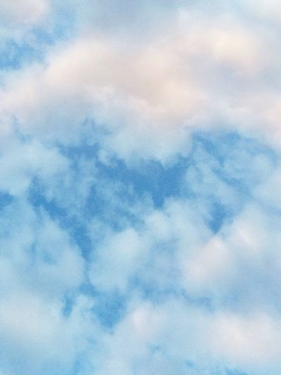 Clouds Sky Backgrounds Blue White Cotton Cottonlike