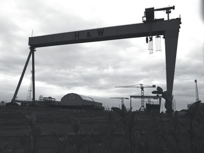the crains Belfast Harland&Wolff Harland And Wolff Outdoors Industrial Belfast Docks
