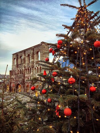 Aosta Historical Building Mercatinidinatale Cristmas Xmas Xmas Market Christmas Tree