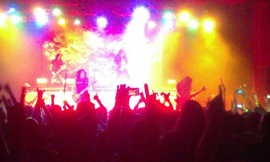 Testament playing the first song of the night,Rise Up. Arizona Tempe Heavymetal Testament The Marquee Concert