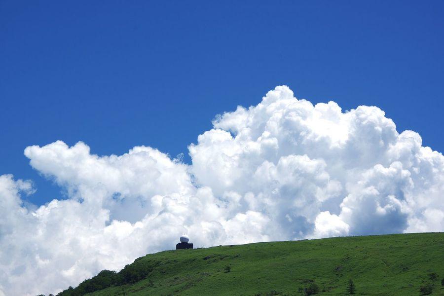 車山山頂レーダードーム 山頂 夏空 車山高原 Pentax K-3 Sky Green Color Blue White Color