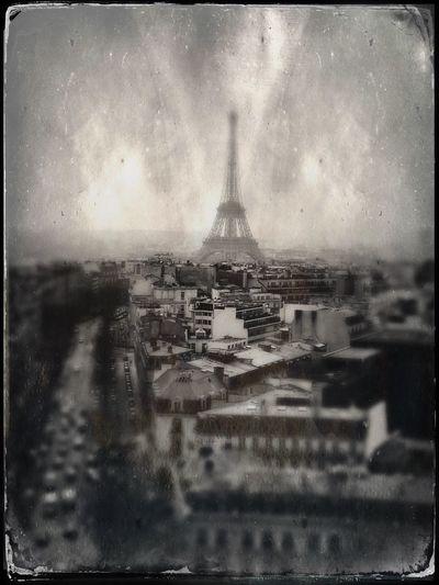 Paris! Tintype Eiffel Tower France Paris Built Structure No People Sky Building Exterior City Cityscape