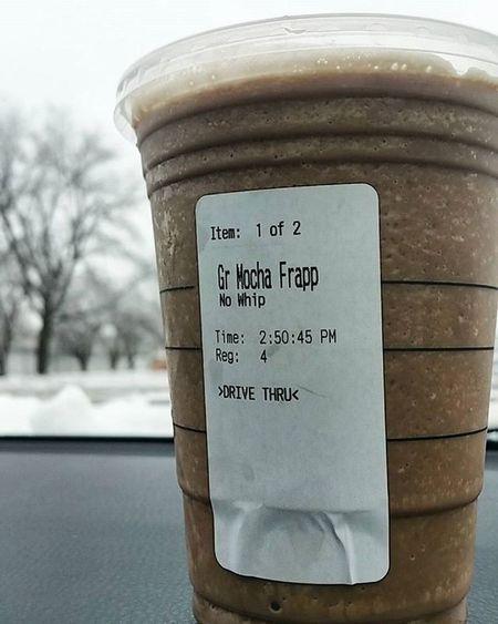 Starbucks Starbuckscup Starbuckscoffee Coffee Frappe Frappuccino Mochafrappe Mocha Winter Winterbreak2015 Winterbreak Treatyourself Davenport  Davenportiowa Iowa