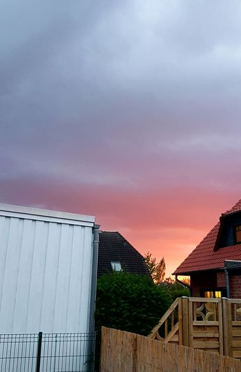 Sunset.....red skies.....dramatic skies Red Skies Sunset Wonderful Skylight Sunshine ☀ Outdoor Photography Outdoors Evening Sky Evening Light Sky Architecture Built Structure Fence