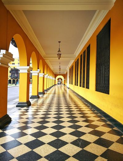 Amarelo Architectural Column Architecture Built Structure Travel Destinations History Cityscape Arch Building Exterior Lima-Perú Architecture Streetphotography Color Photography Façade Color Paint Outdoors City Urban Politics And Government Decorations Peruvian Photographylovers Window