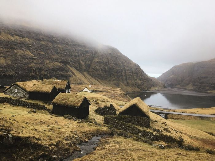 Peaceful village in the Faroes Landscape Village Church Nature Mountain Architecture EyeEm Nature Lover EyeEm Best Shots EyeEmBestPics Photography Photooftheday Awesome Place Beauty In Nature Scenics Travel Faroe Islands Photoshoot Traveler Travel Photography Fog Grass The Great Outdoors - 2017 EyeEm Awards