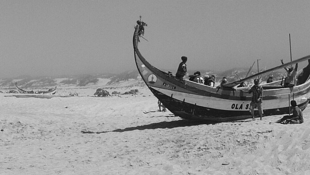 Nautical Vessel Beach Mode Of Transport Transportation Outdoors Moored Day Sand Nature Sea Water Beauty In Nature Sky No People Portugal Torreira Catch Of Fish Welcome To Black Welcome To Black EyeEmNewHere Sommergefühle Black And White Friday Business Stories This Is Family The Street Photographer - 2018 EyeEm Awards