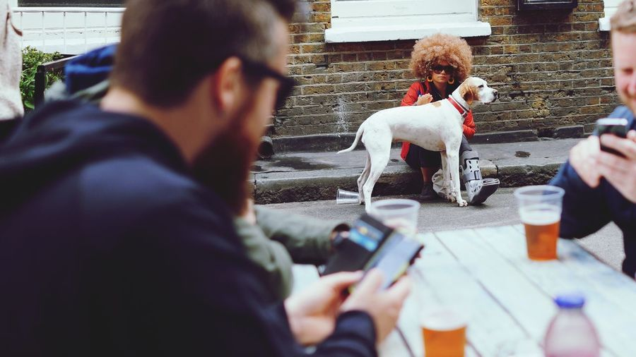 Hair Dog East London Brick Lane Showcase April Hanging Out Pet People Watching Up Close Street Photography Showing Imperfection Human Meets Technology The Street Photographer - 2016 EyeEm Awards Pet Portraits