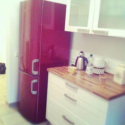 Endlich endlich endlich geliefert worden: der Kühl-/Gefrierschrank.