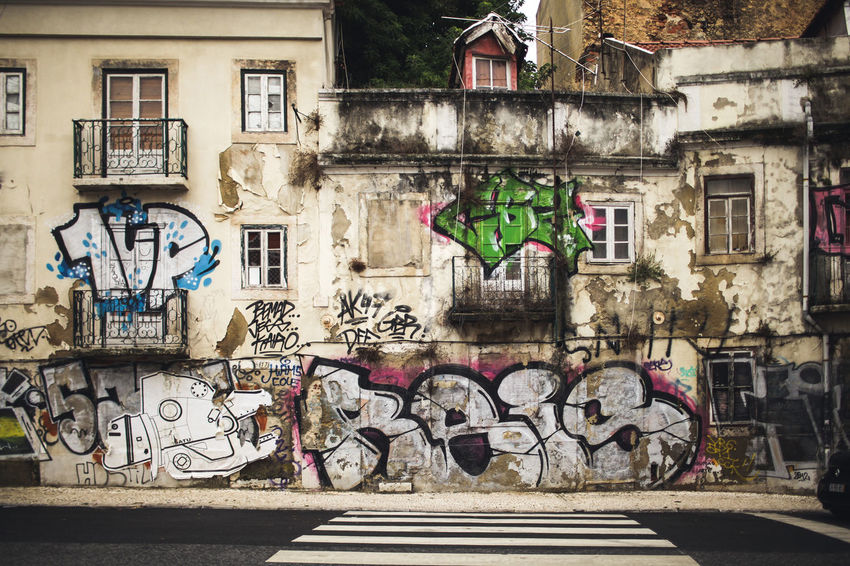 Architecture Building Exterior Built Structure City City Life Day Graffiti Grunge Multi Colored No People Outdoors Street Street Photography Streetphotography Urban Vintage