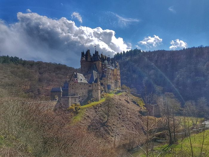 Burg Elz Landscape Germany Burg Elz  Mittelalter Background Galaxy Spraying Water Sky Cloud - Sky