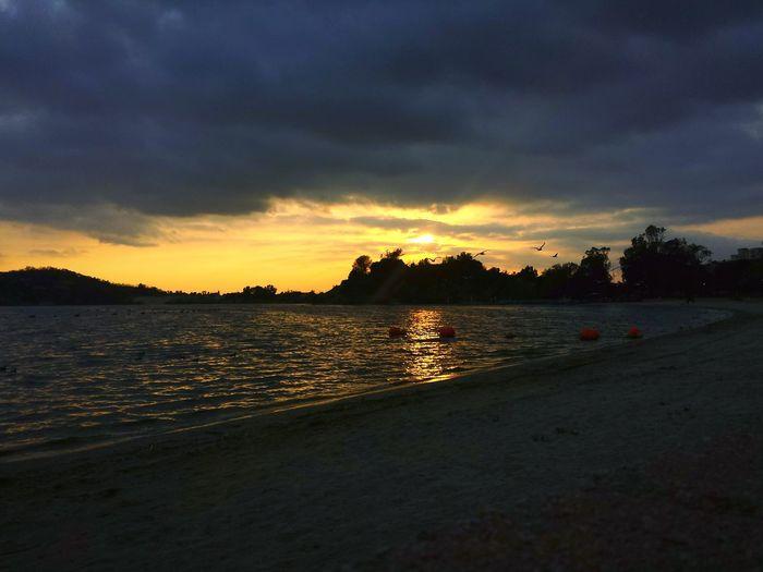 Sunset at the lake Life Is Beautiful Hello World Sunset