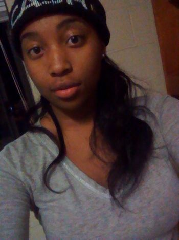 what up tho? Bored Beanie Long Hair, Don't Care. College Girl