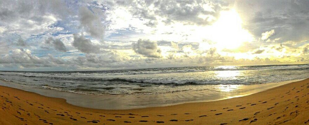 Asuszenfone Mobilephoto Clouds And Sky Horizon Sunshine Cloudporn Sea Golden When Boredom Strikes  Panorama