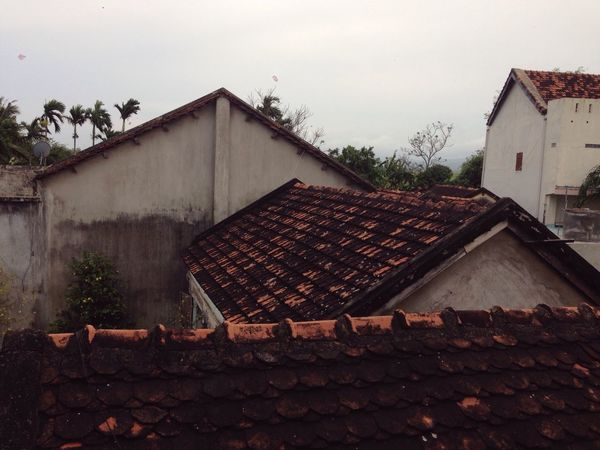 Roof House Contryside Old Built Structure Vietnam Peaceful Feelfree From Above