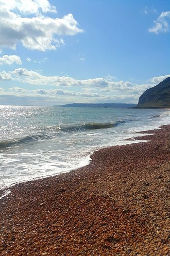 Beach Sea Water Nature Scenics Sky Horizon Over Water Summer Wave Landscape Tide English Channel English Beach English Beach Scene English Summer Pebble Beach Pebbles Pebbles On A Beach Pebblestones