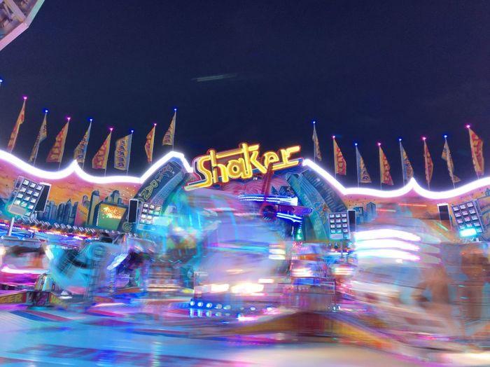 Hamburger Dom Night Lights Fair Roller Coaster