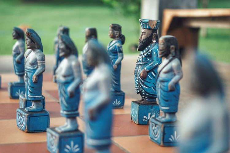 Male Likeness Human Representation Figurine  Sculpture Statue No People Chess Piece Chess Indoors  Knight - Chess Piece Day Close-up