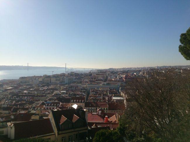 Lisboa View From Castelo De São Jorge Unedited Lisbon