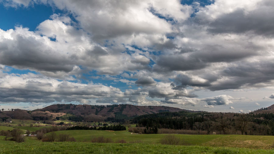 cloudy Black Forest Cloud Cloud - Sky Cloudy Countryside Field Hill Landscape Mountain Mountain Range Nature Schwarzwald Sky