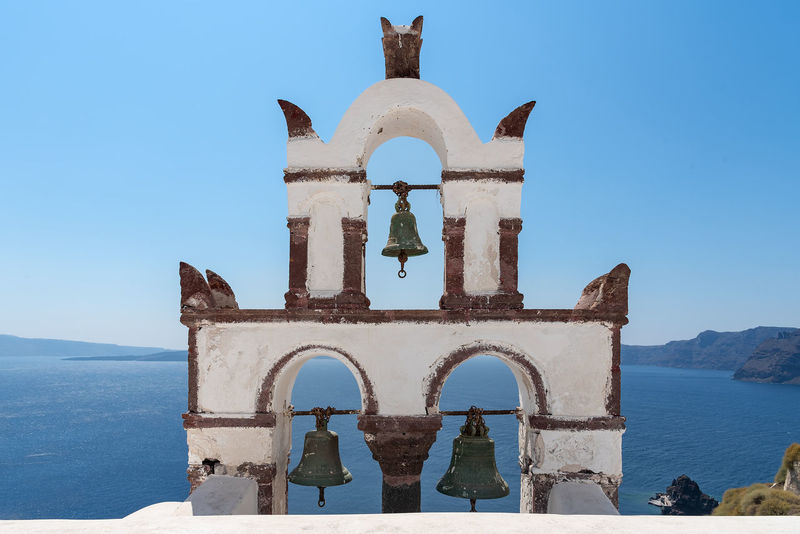 Oia village - Santorini Cyclades Island - Aegean sea - Greece Greece Santorini Oia Cyclades Island Mediterranean  Volcano Caldera Village Whitewashed Aegean Water Architecture Built Structure Religion Sea Building Exterior Nature Belief Place Of Worship Spirituality Building The Past History Arch