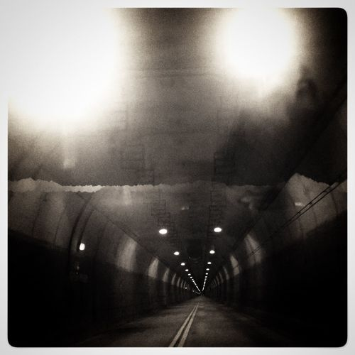 When the bright light is at the entrance not the end of the tunnel. Blackandwhite Tunnel Pittsburgh Iphone6s Wabashtunnel