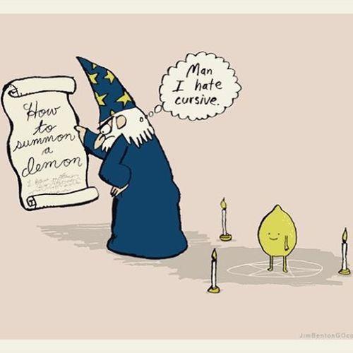 How to summon a demon. A lemon. Witchcraft  Killerlemons MERLIN Witchhumor Ritual LOL Thislemonwillhuntyourhouse Lemoxorcist