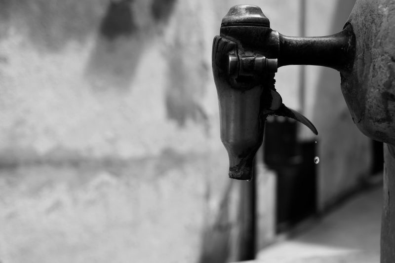 Close-up of water tap