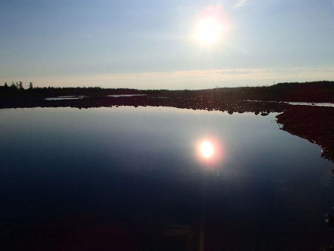 север Полярный день. Sun Water Sky No People Sunlight