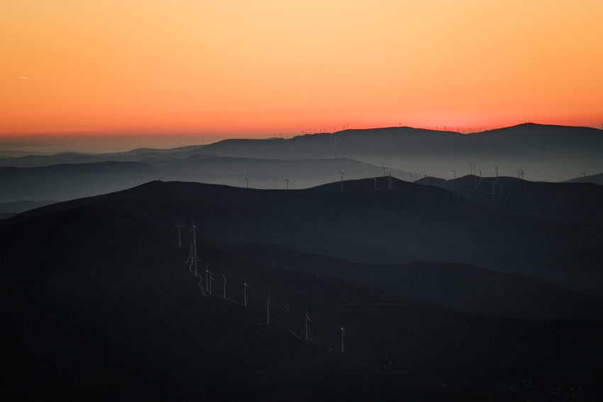 Beauty In Nature Day Landscape Manteigas Mountain Mountain Range Nature No People Outdoors Scenics Silhouette Sky Sunset Tranquil Scene Tranquility