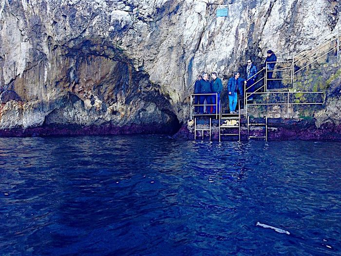 Grotta Azzurra (The Blue Grotto), Capri, Italy Cave Entrance Staircase Travel Travelphotography Destinations Grotto Azzurro Grotto Blue Grotto The Blue Grotto Capri Capri Italy Anacapri Sea Cave Capri Island Capri Capri, Italy Italy🇮🇹 Italy Water Day Nature Architecture Waterfront Built Structure Outdoors Blue Tranquility Beauty In Nature Reflection Sea