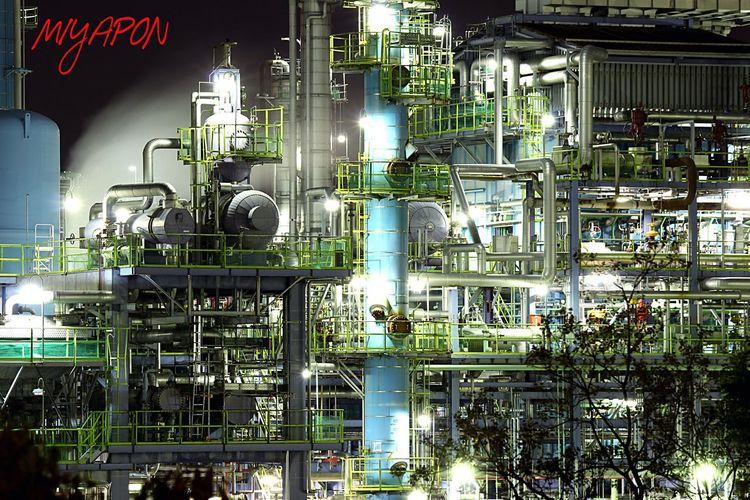 堺浜寺の工場にて❗️ Holiday Night Lights Night View Night Oosaka  Factory