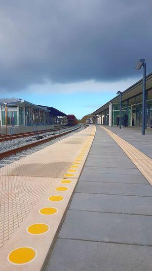 Train Train Station Rails City Cityscape Sky Architecture Built Structure Cloud - Sky