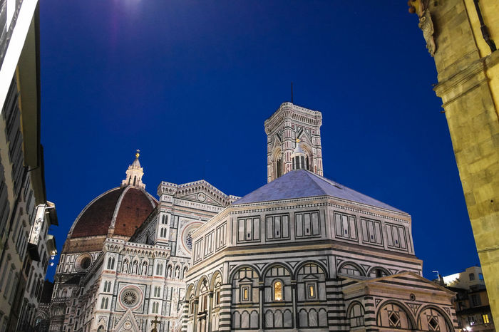 Duomo, Battistero #Firenze #Skyline #architecture #art #evening Architecture Blue Building Exterior Built Structure Clear Sky Day Dome History Low Angle View No People Outdoors Religion Sky Spirituality Sunlight Travel Destinations